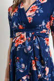 Floral Side Tie Maternity & Nursing Dress