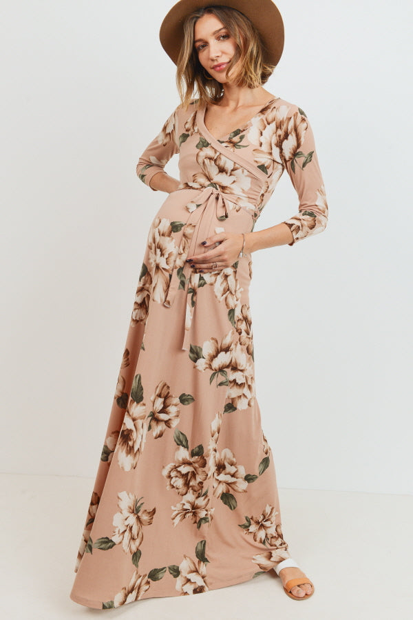 Floral Maternity/Nursinh Maxi Dress