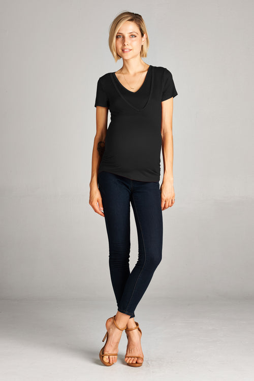 V Neck Scoop Nursing Top