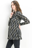 Diamond Plaid Maternity Sweater