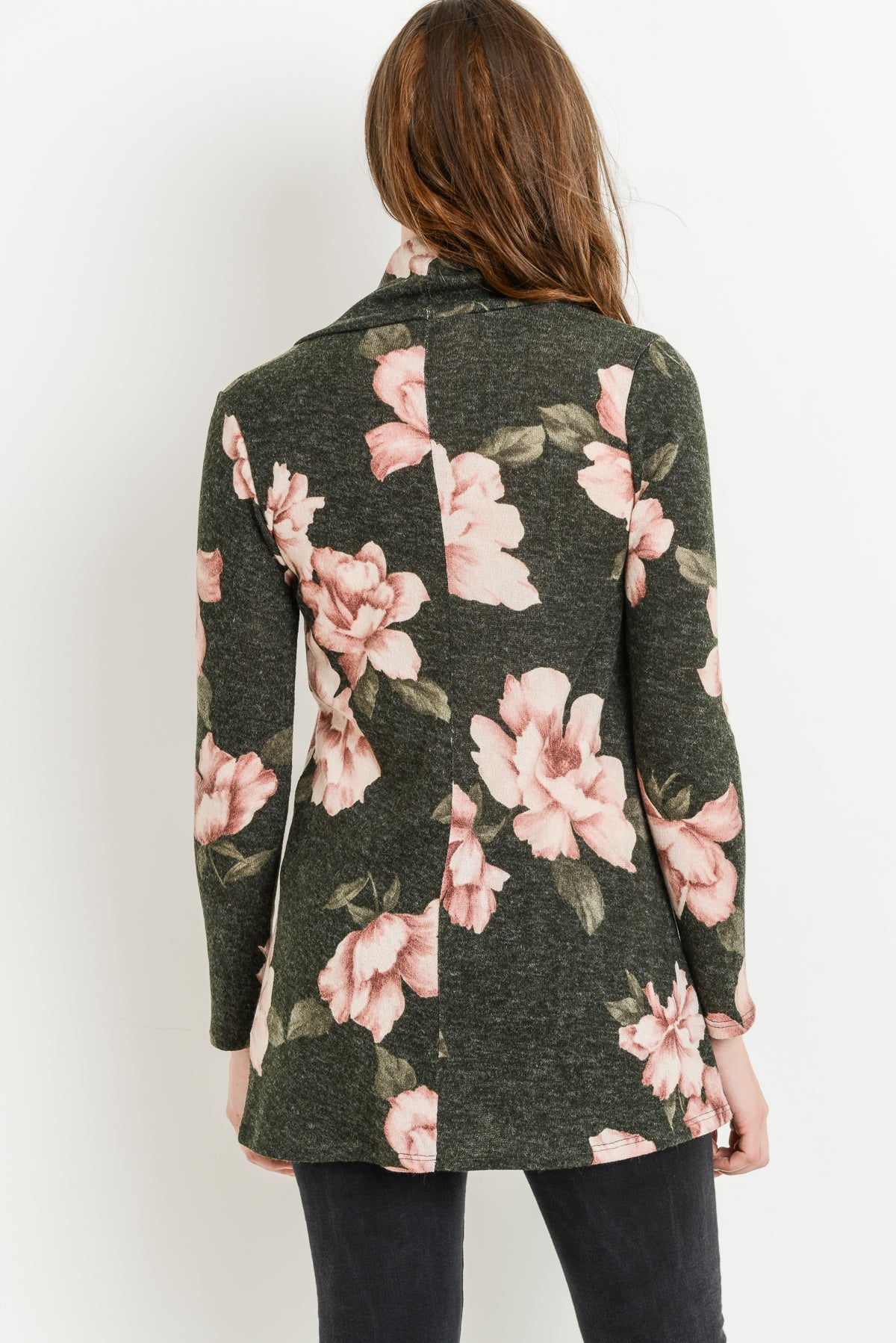 Floral Shawl Collar Maternity Sweater