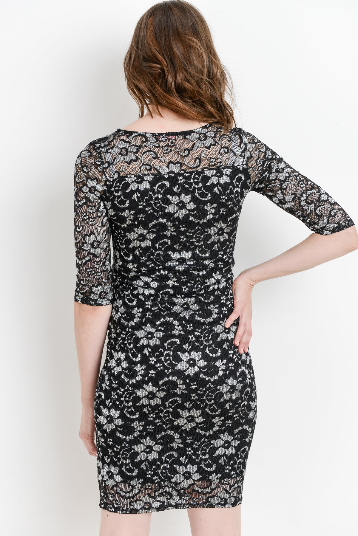 Sakura Lace Bodycon Maternity Dress