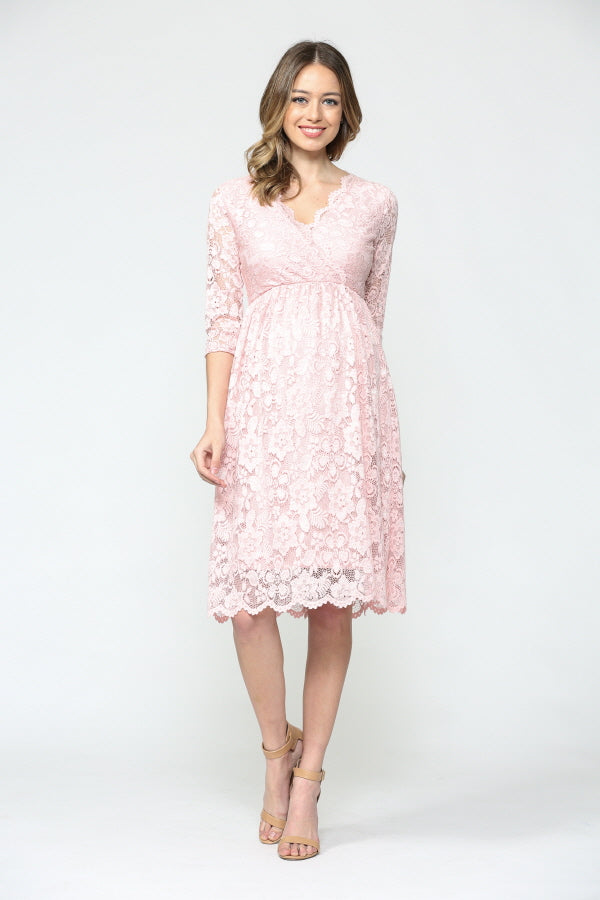 Floral Maternity/Nursing Wrap-Front Dress