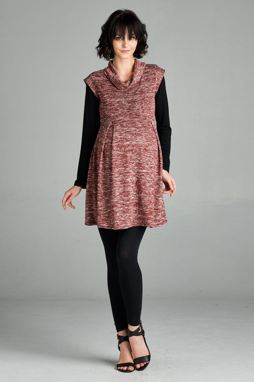 Sleeveless Cowl Neck Maternity Top