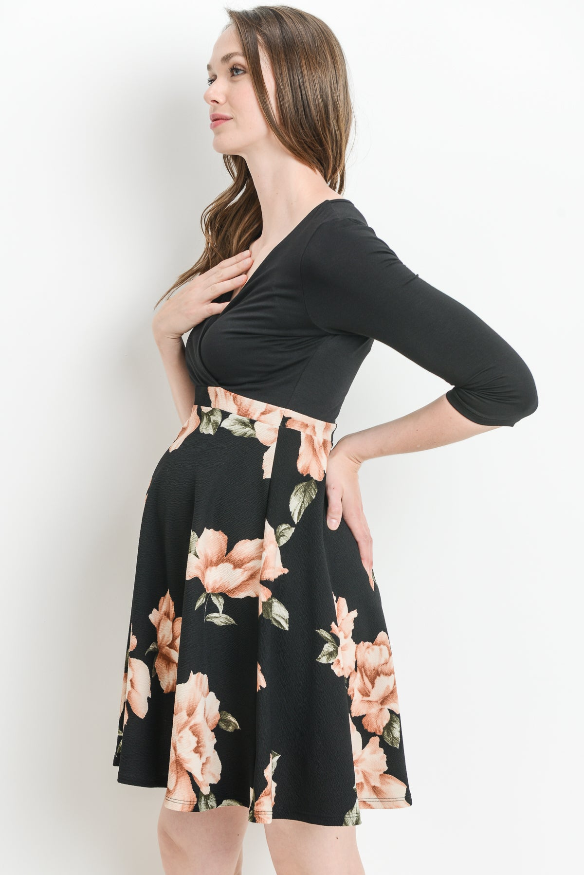 Floral Surplice maternity /nursing dress