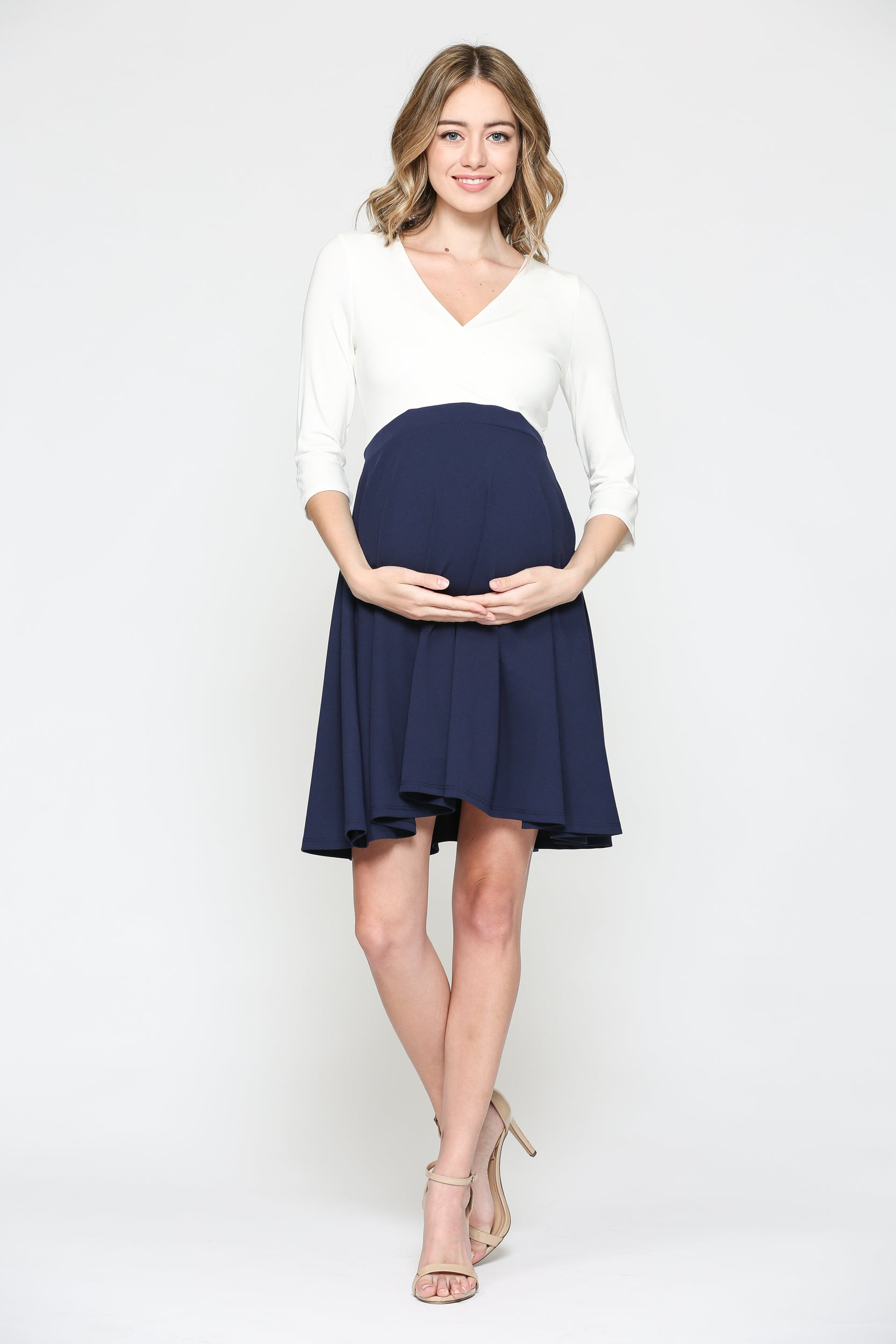 Surplice Top Maternity/Nursing Dress