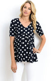 Polka Dot Empire Waist Maternity Top