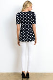 Polka Dot Maternity Empire-Waist Top