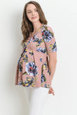Floral Peplum Maternity Top