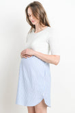 Striped Bottom Maternity & Nursing Shift Dress