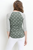 Polka Dot Raglan Maternity Top