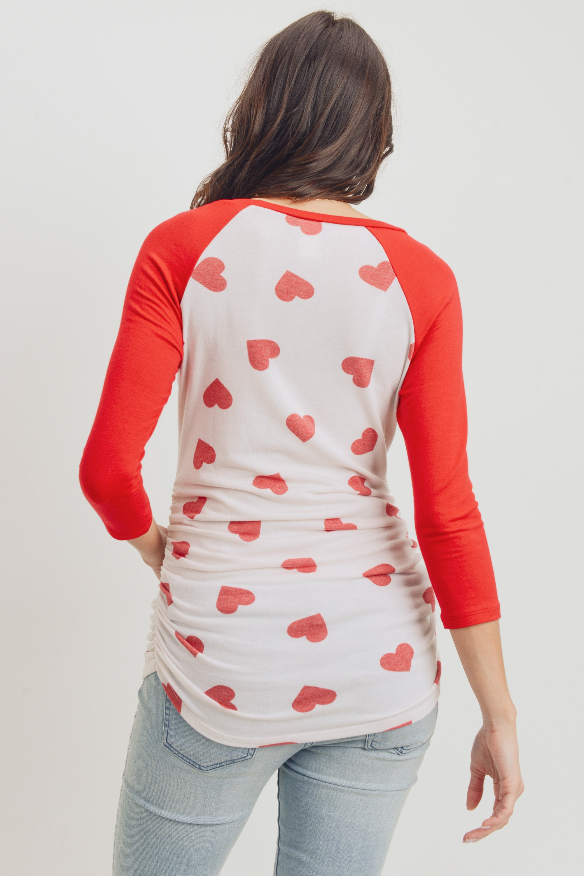HEART REGLAN MATERNITY TOP