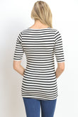 Stripe Layered Long Maternity & Nursing Top