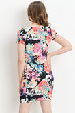 Multi- Color Floral Maternity Body con Dress