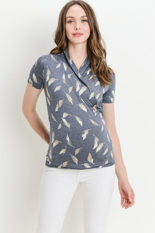 Leaf Maternity/Nursing Surplice Top