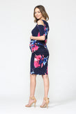 Cold Shoulder Bodycon Maternity Dress