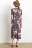Floral High Low Maternity & Nursing Dress