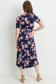 Floral Surplice High-Low Maternity/Nursing Dress