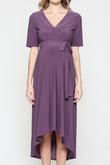 Solid High-Low Maternity Dress