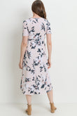 Floral Front Tie Maternity & Nursing Dress