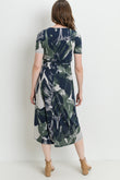 Big Leaf Front Tie Maternity & Nursing Dress