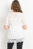 Layered Lace Maternity Top
