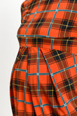 Plaid Front Pleated Maternity Top