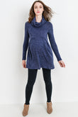 Cowl Neck Maternity Tunic Sweater