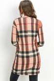 Plaid Knit Maternity & Nursing Sweater Tunic