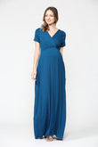 Empire Maternity Maxi Pocket Dress