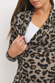 Long Sleeve Animal Sweater Maternity Top