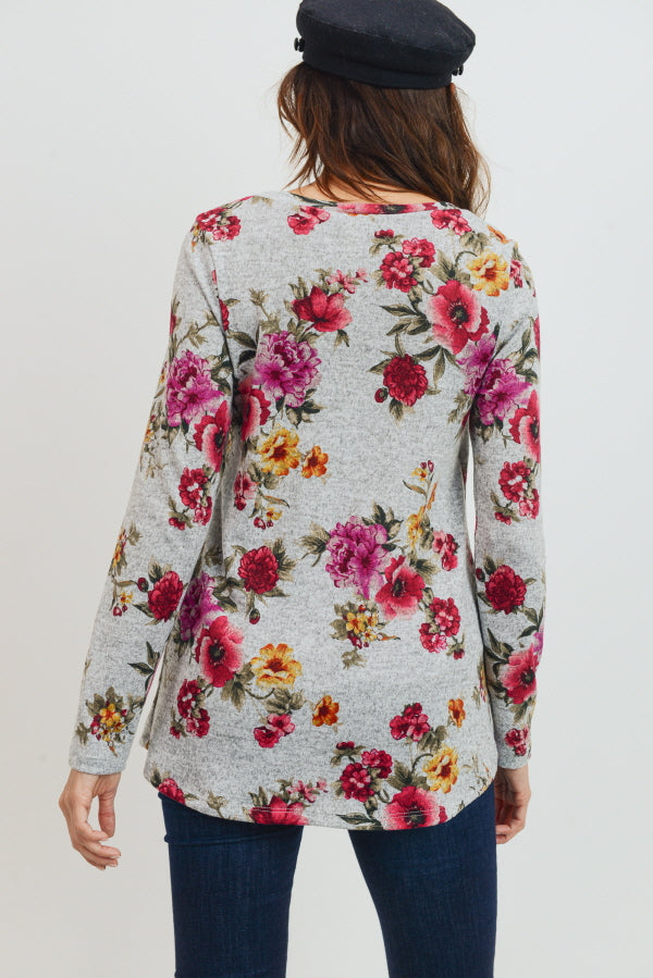 Floral Tunic Maternity/Nursing Sweater
