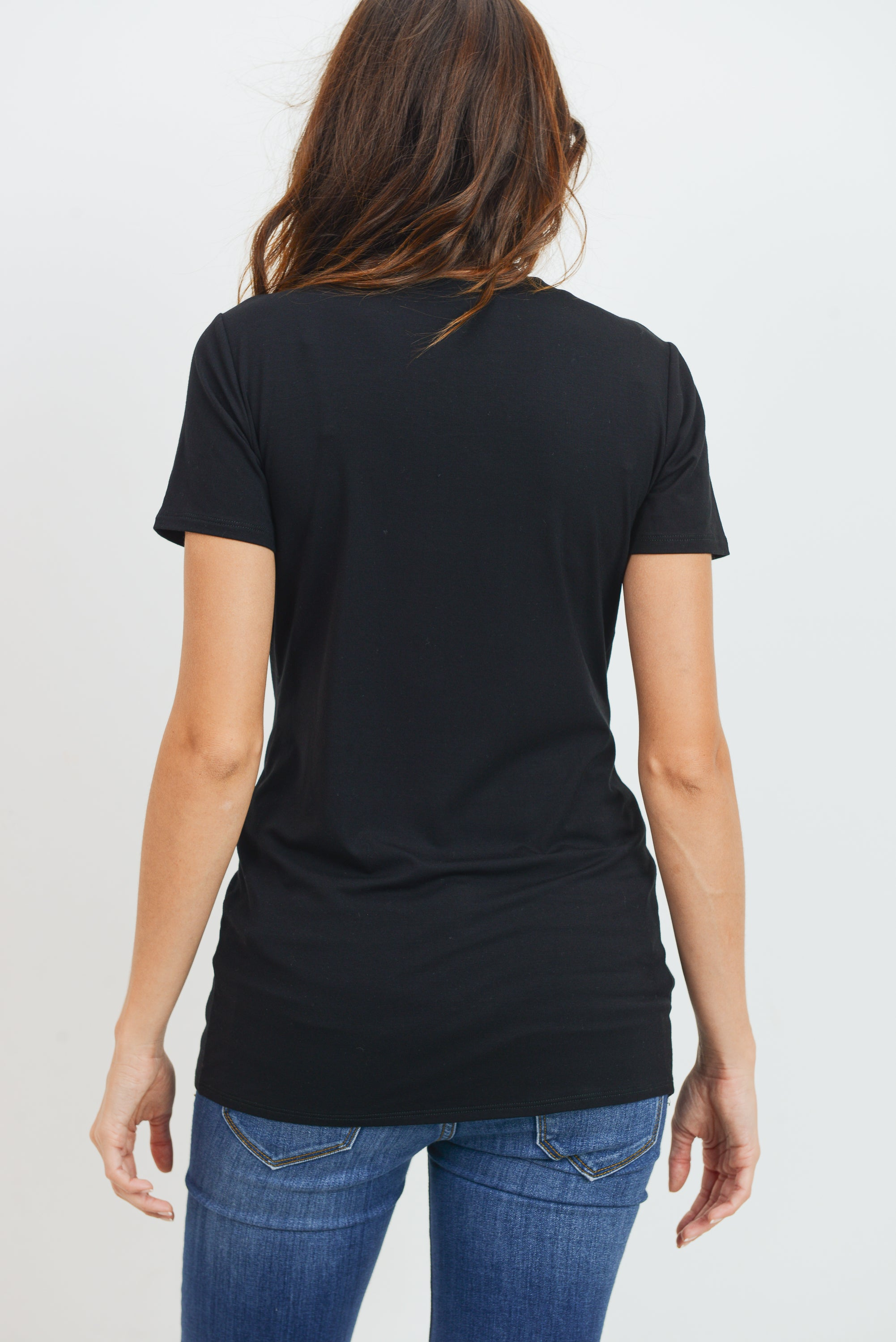 Modal Jersey Round Neck Short Sleeve Top