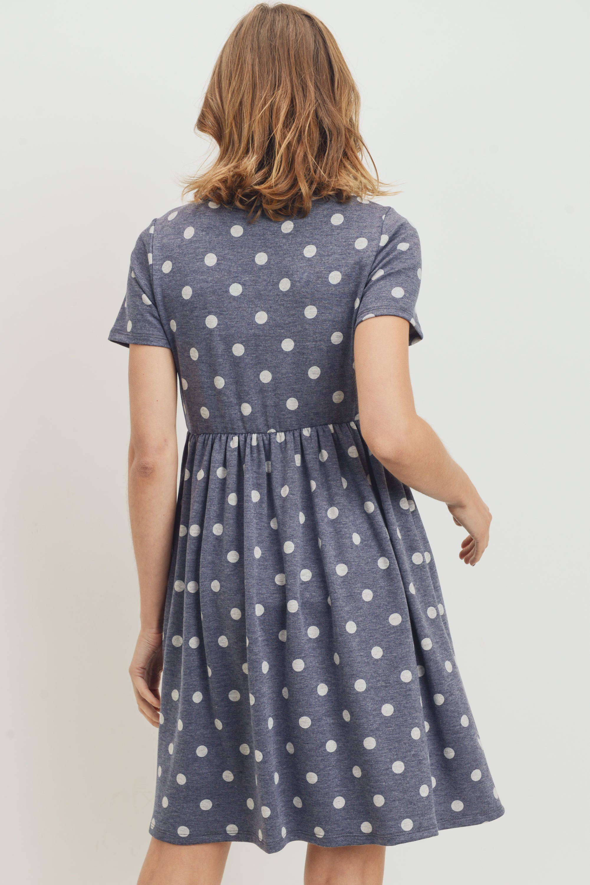 Polka Dot Babydoll Maternity Dress