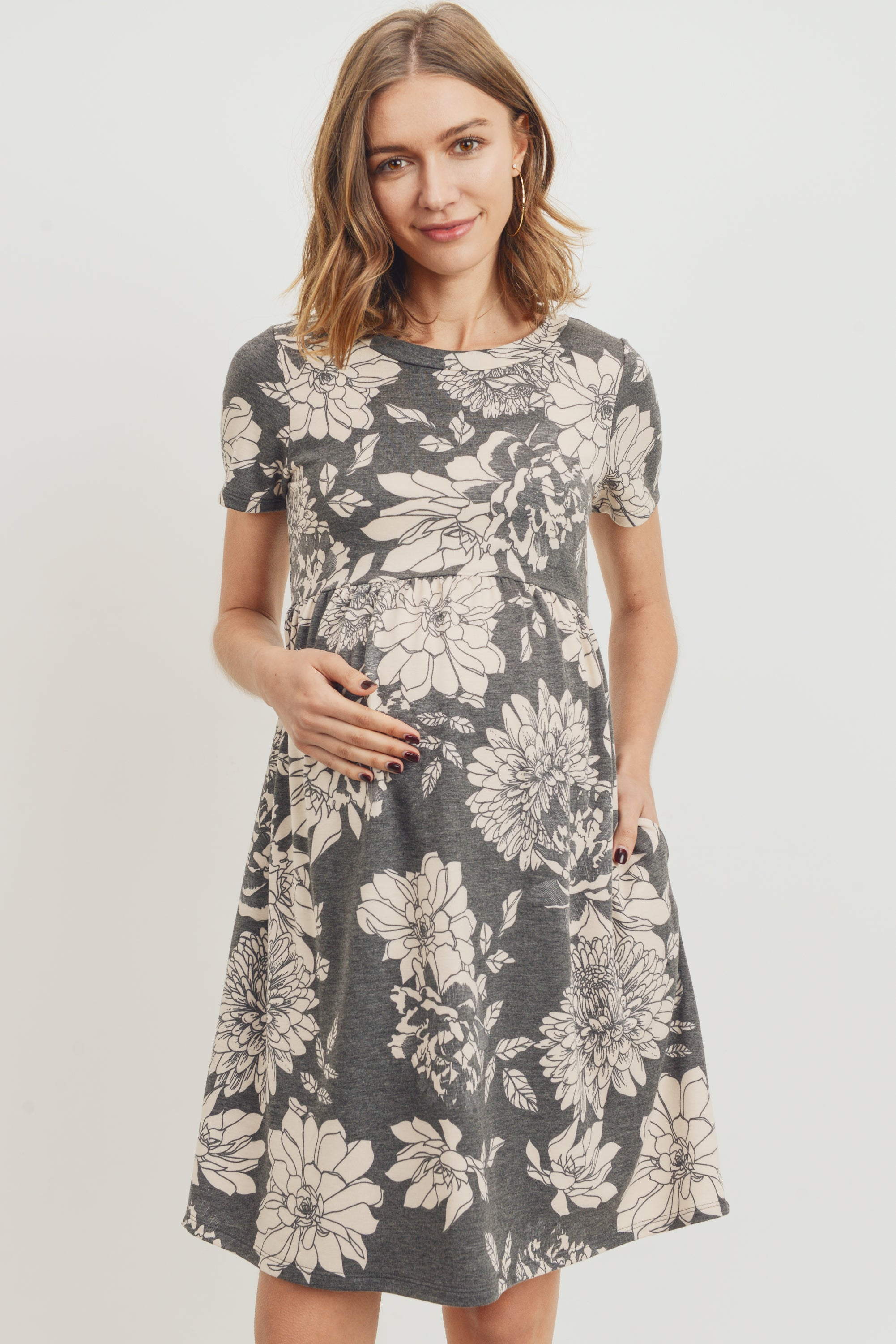 Floral Babydoll Maternity Dress