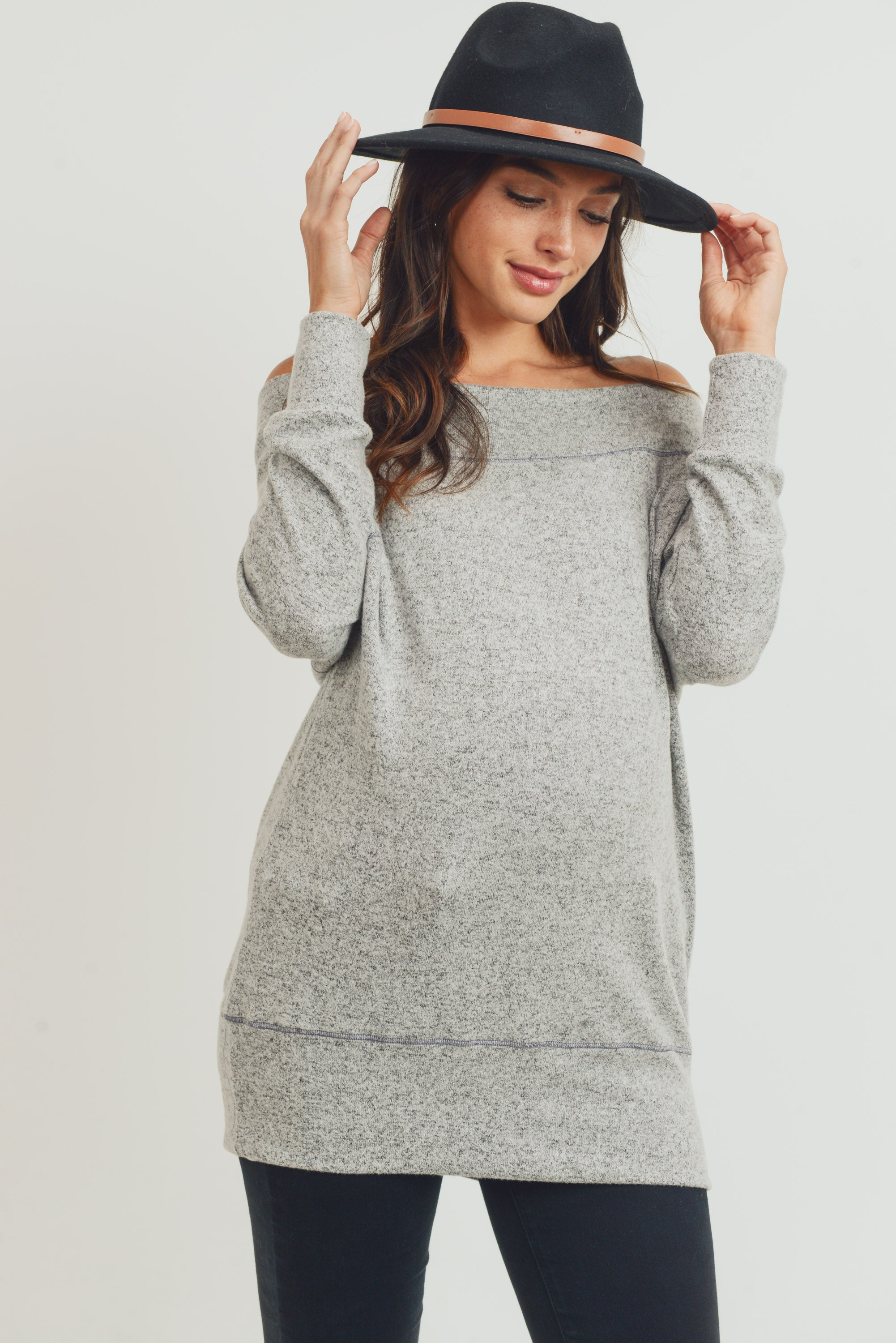 Rayon Rich Hacci Brushed Maternity Tunic