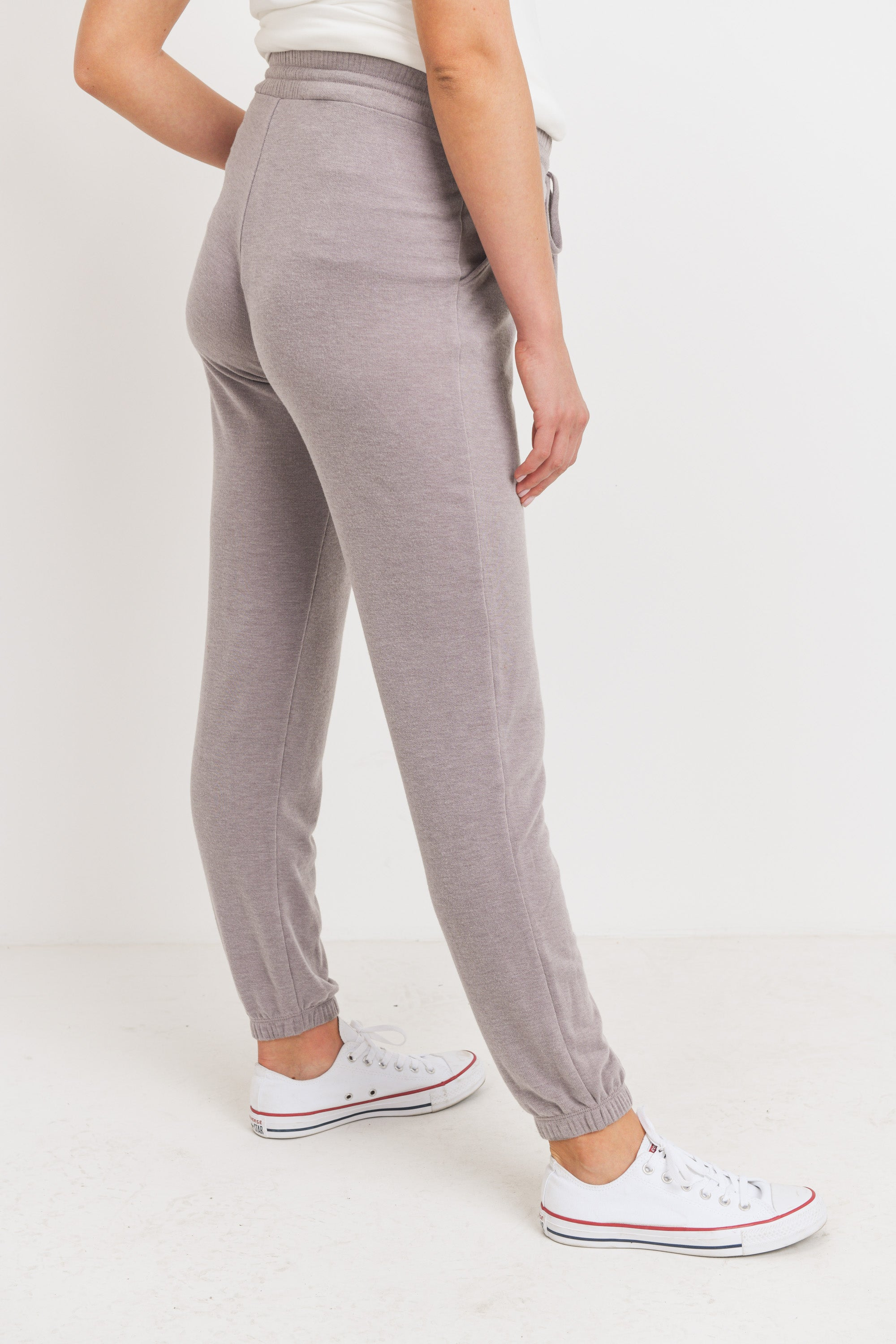 Two Toned Brushed Terry Maternity Sweatpants