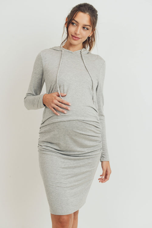 Super French Terry Maternity Hoodie Dress