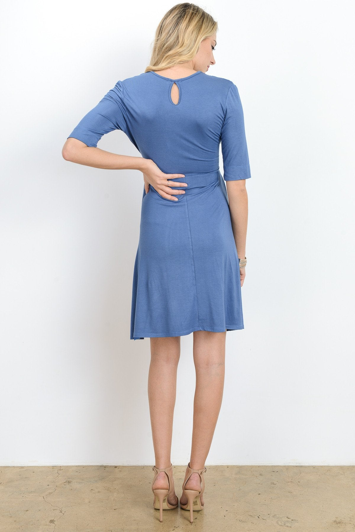Keyhole Maternity & Nursing Surplice Dress