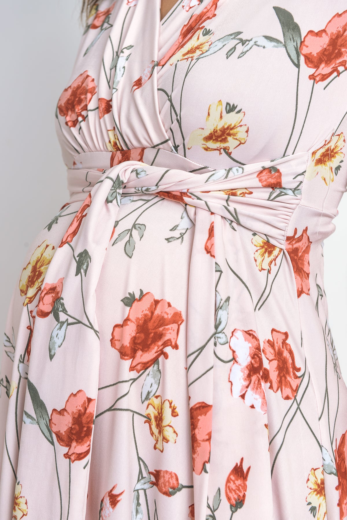Faux Wrap Midi Maternity & Nursing Dress
