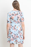 Floral Wrap Surplice Maternity/Nursing Dress