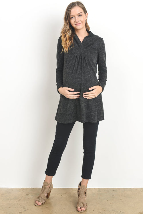 Shawl Collared Maternity Sweater