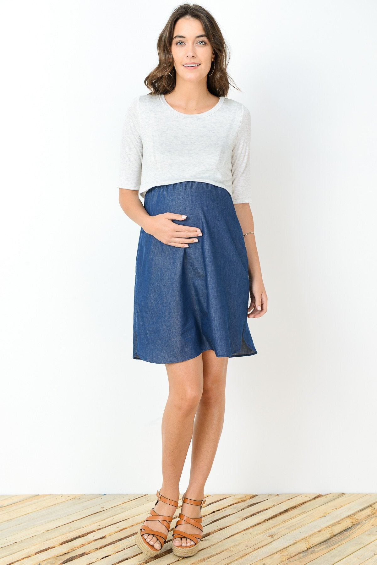 Maternity/Nursing Shift Dress