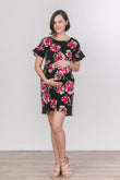 Ruffle Sleeve Maternity Shift Dress