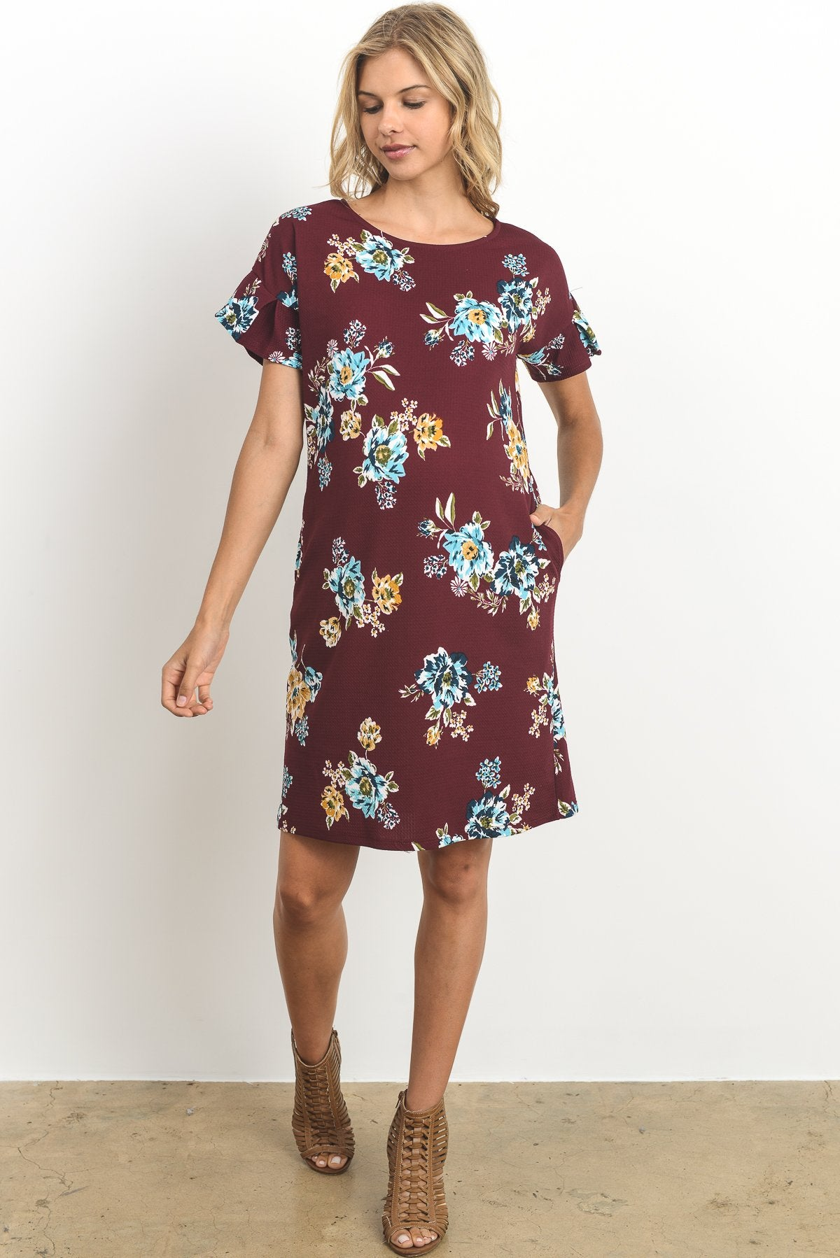 Danielle Floral Maternity Shift Dress