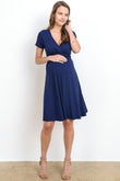 Empire Waist Back Tie Maternity & Nursing Dress