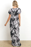 V-Neck Maternity Maxi Dress