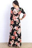 Floral Maternity & Nursing Maxi Dress