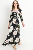 Floral Maternity/Nursing Maxi Dress