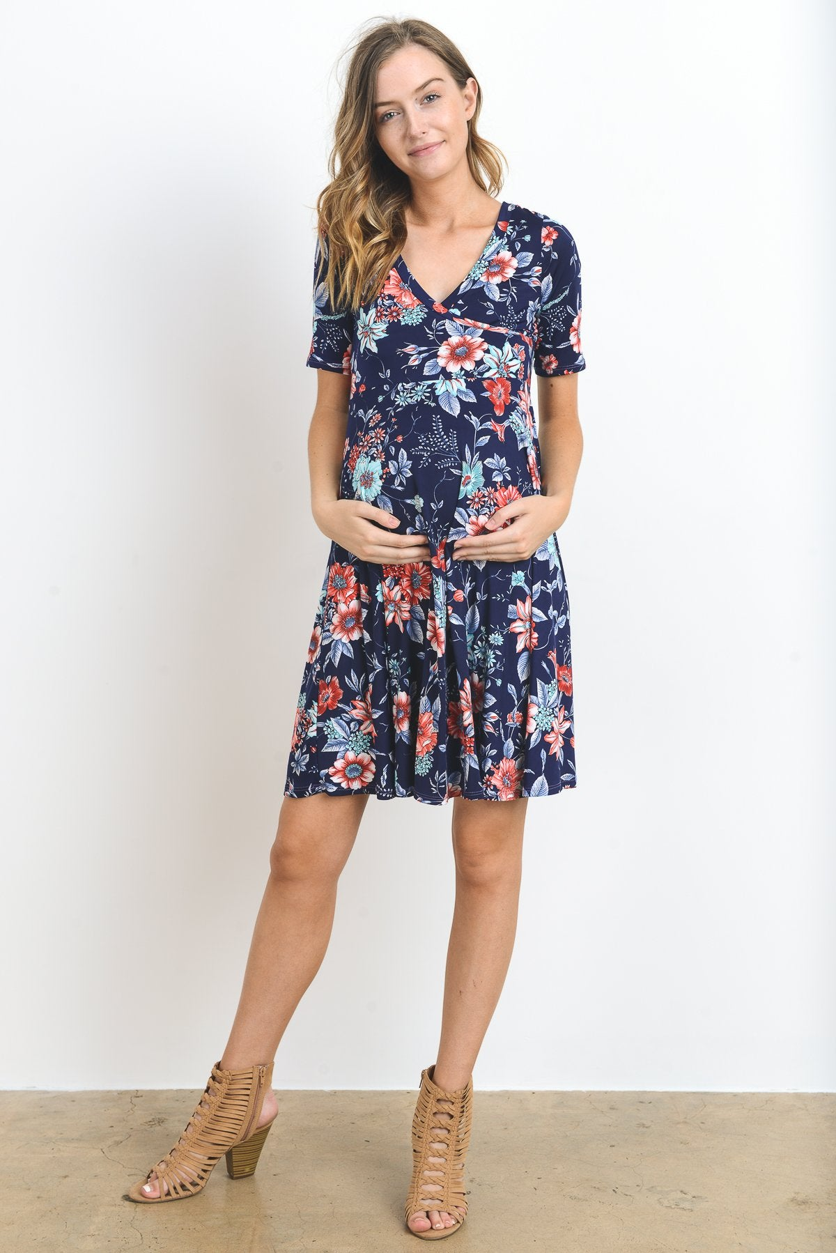 Daily Maternity & Nursing Flare Dress